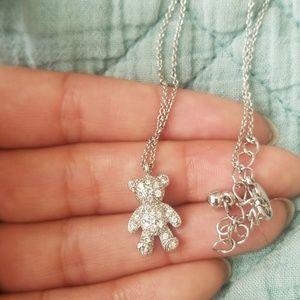 Jewelry - Rhinestone Teddy Bear Necklace